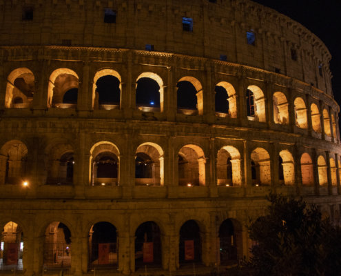 Koloseum, Rzym, Włochy, Rome, Italy, colosseum, view, city break, vacation, Rome by night, night, lights, city lights