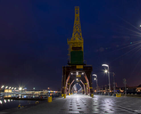 Stettin, Szczecin, Cranes in Stettin, dźwigozaury, night, statin by night, Szczecin nocą