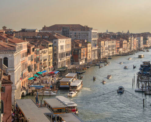 Wenecja, Venice, canal, old, holiday, vacation, tourist, ships, boats