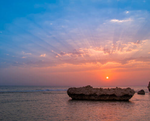 Egipt, Morze Czerwone red sea sunrise sunset stone, sun, clouds sky, coast