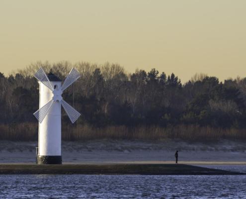 wiatrak, młyna stawy, świnoujście, wschód słońca