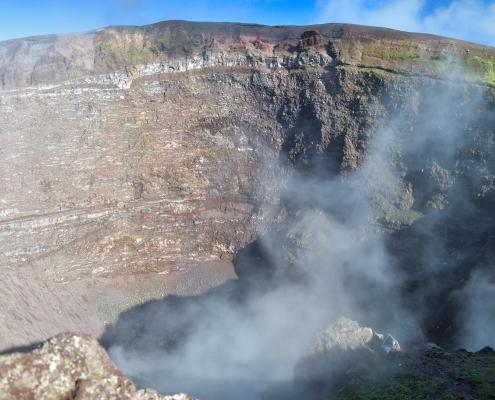 Volcano Vesuvius, Wezuwiusz, rock, smoke, volcano, crater, earth