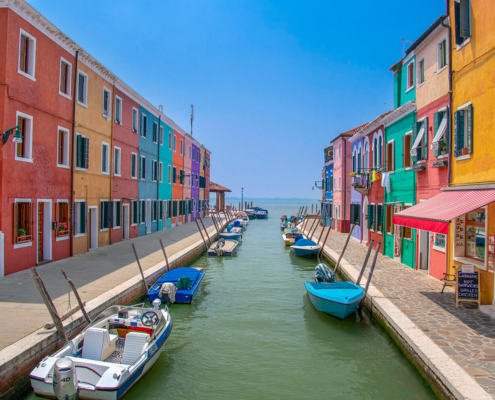 burano italy color hous colors hauses water