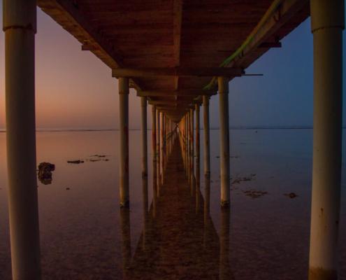 beach, sky, Africa, water, stone, beach, pier, blue sky, sunset, sunrise, dark