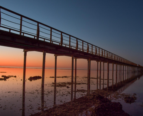 beach, sky, Africa, water, stone, beach, pier, sunrise, sunset, sun, red sea, sea